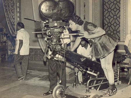 MGR Checking Camera Shots in Shooting Spot