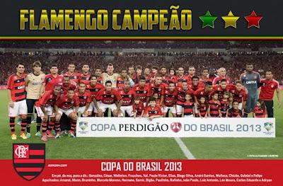 poster flamengo copa do brasil 2013