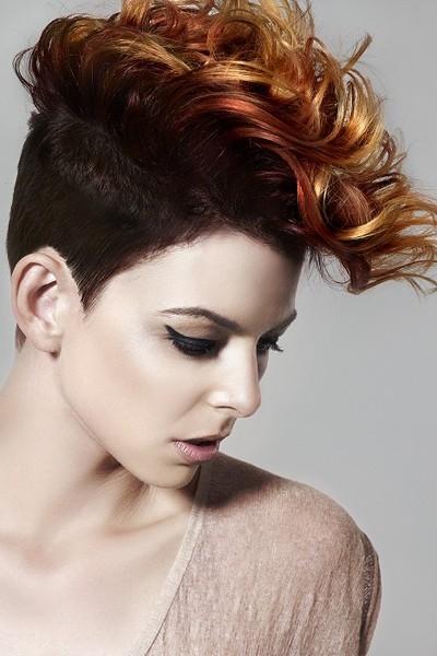 Cortes de pelo corto mujer rulos