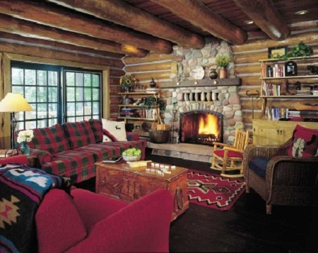 Country living room decorating ideas living room for Small cabin living room ideas