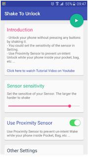 Tips: Cara Mengaktifkan Android dengan Digoyangkan (Shake to Unlock )