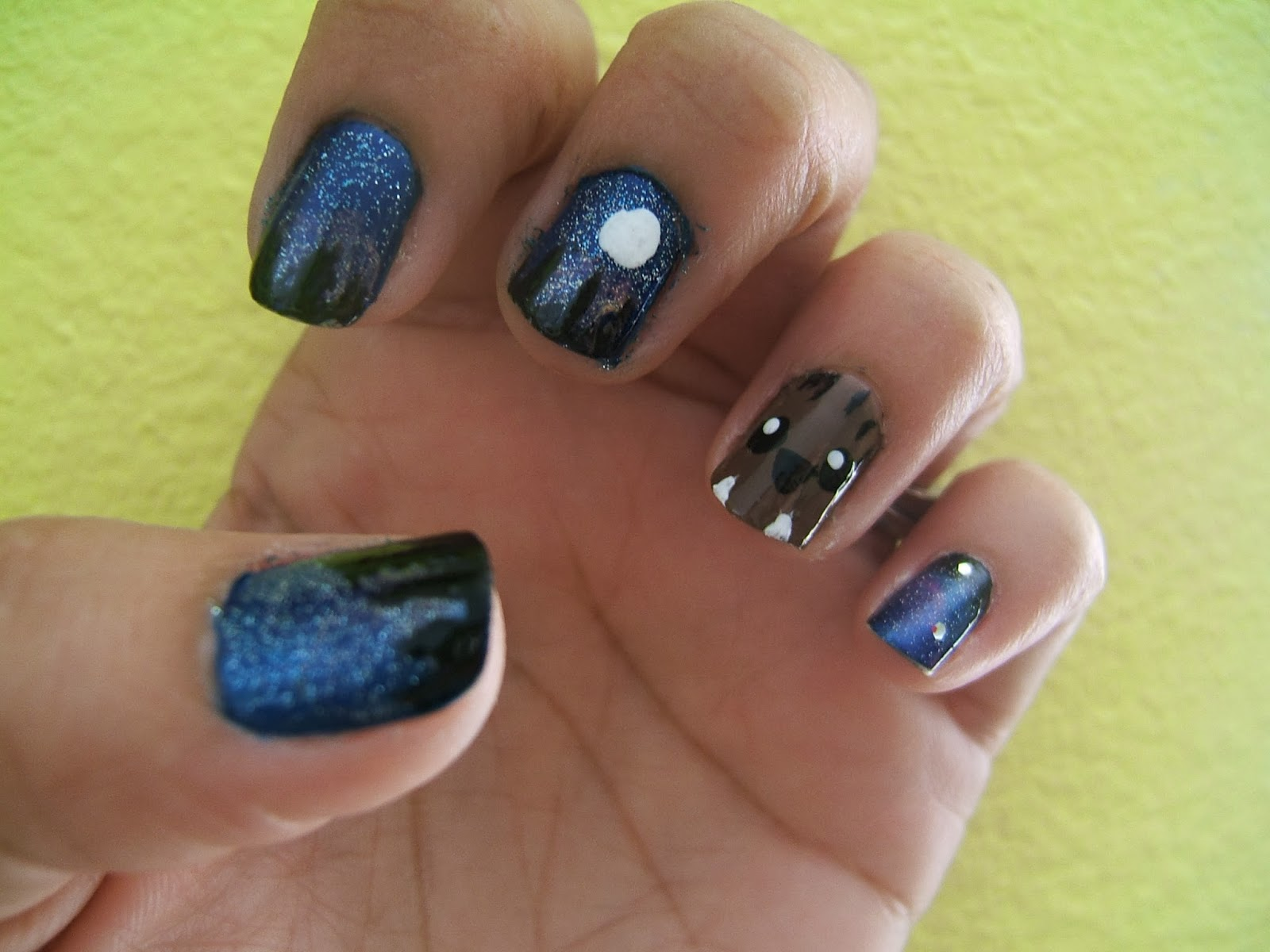 Once More With Feeling: Galaxy & Werewolf Nails