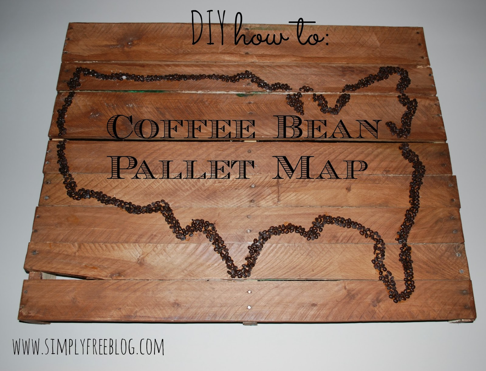 USA Coffee Bean Pallet Wall Art DIY Simply Elliott - How to do us map on pallet