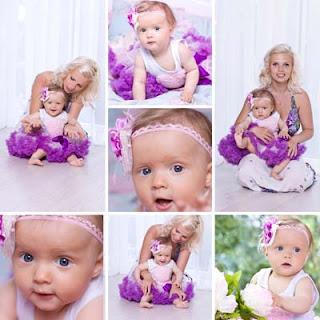 Fotos de una linda niña bebé y su hermosa mamá