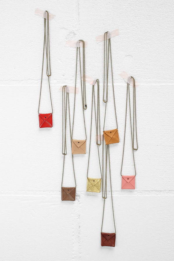Jee Bags mini leather necklaces