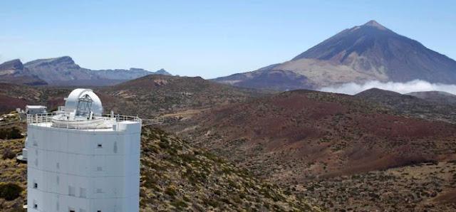 Telescopio EFE Gregor y Santa Cruz de Tenerife