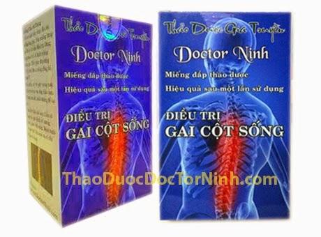 Chữa bệnh thoái hóa cột sống bằng miếng đắp thảo dược Doctor Ninh