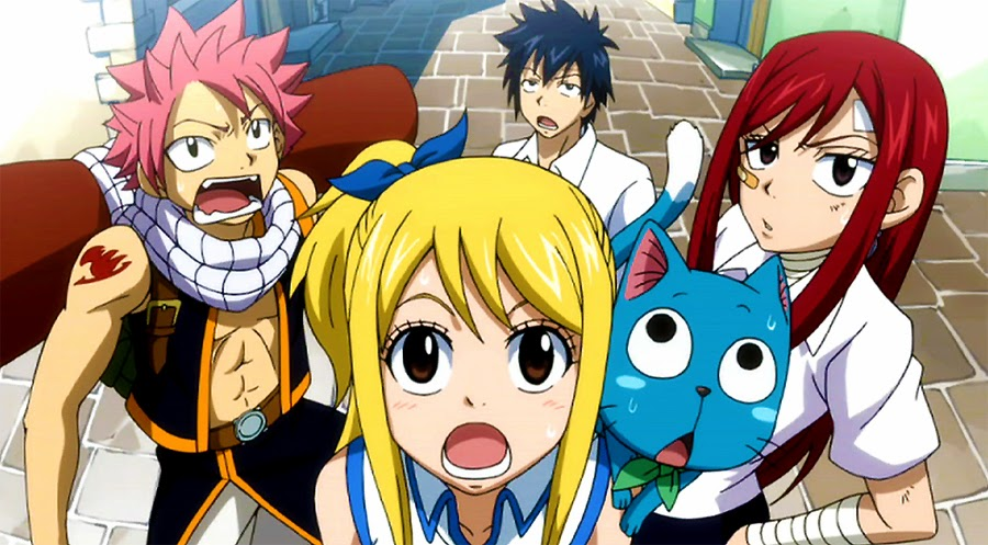 Theyre Back Natsu Lucy Gray Happy And Erza