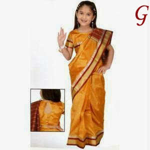 Saree Images For Kids Photos