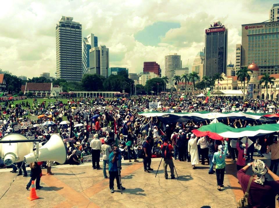 Perhimpunan Aman Selamatkan Anak-Anak Gaza - #Support Gaza