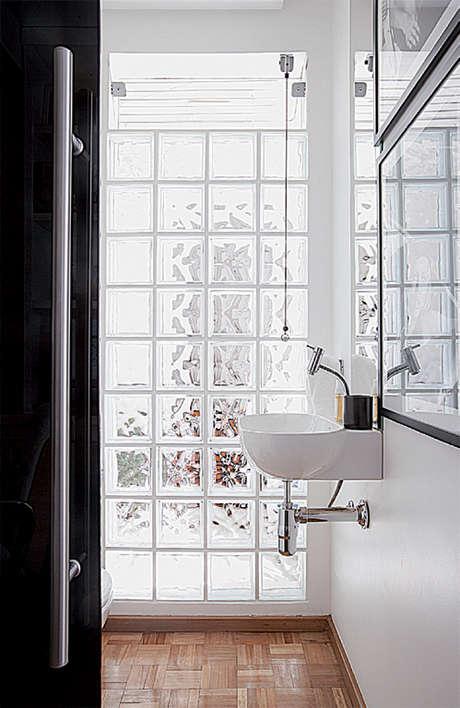 Teia Design Tijolo de Vidro -> Decoracao De Banheiro Com Bloco De Vidro