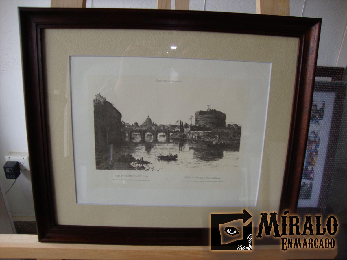 Enmarcado de litograf a marco y passepartout - Enmarcado de cuadros ...