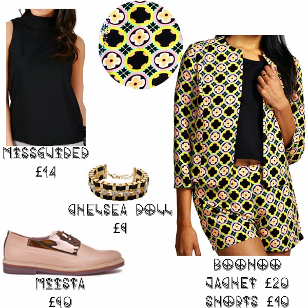 Steal Her style solange knowles what she wore get the look missguided chelsea doll miista shoes boohoo matching set print