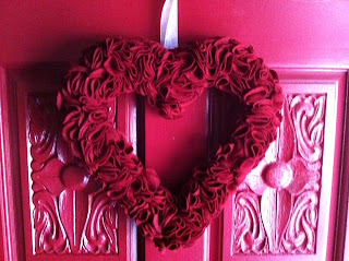 DIY Valentine's Day Felt Heart Wreath for Under $10