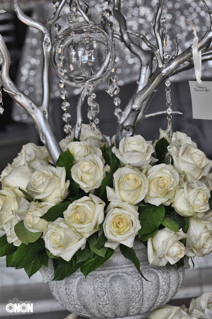 Manzanita wish tree, white roses, crystals, Isha Foss Events