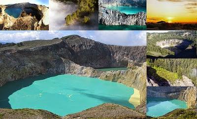 Danau danau berwarna di Indonesia....!!!