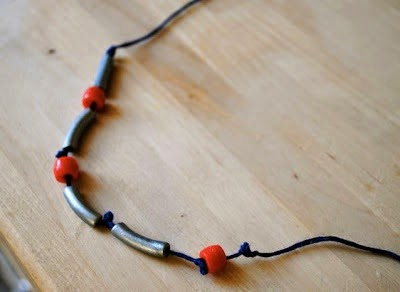 DIY Morse code pasta necklace