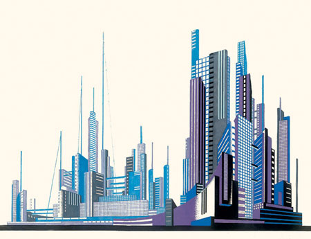 Iakov Chernikhov. Ciclos Constructivistas. «Architectural Fantasies»  1925-1933. Doctor Ojiplatico