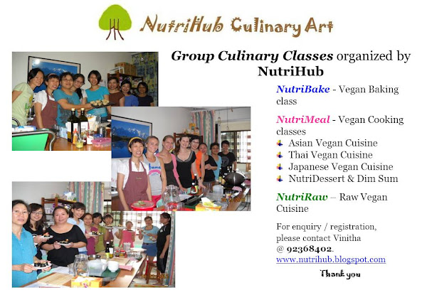 Group Culinary Classes regularly organised by NutriHub