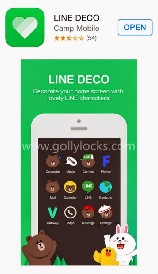 App Review Line Deco Golly Locks