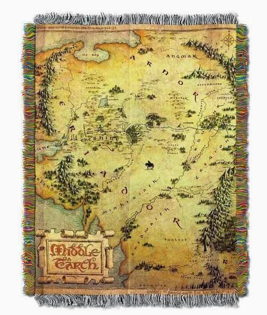 Tapiz Mapa de la Tierra Media EL Hobbit