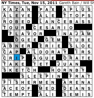 Rex Parker Does the NYT Crossword Puzzle: Classical ...