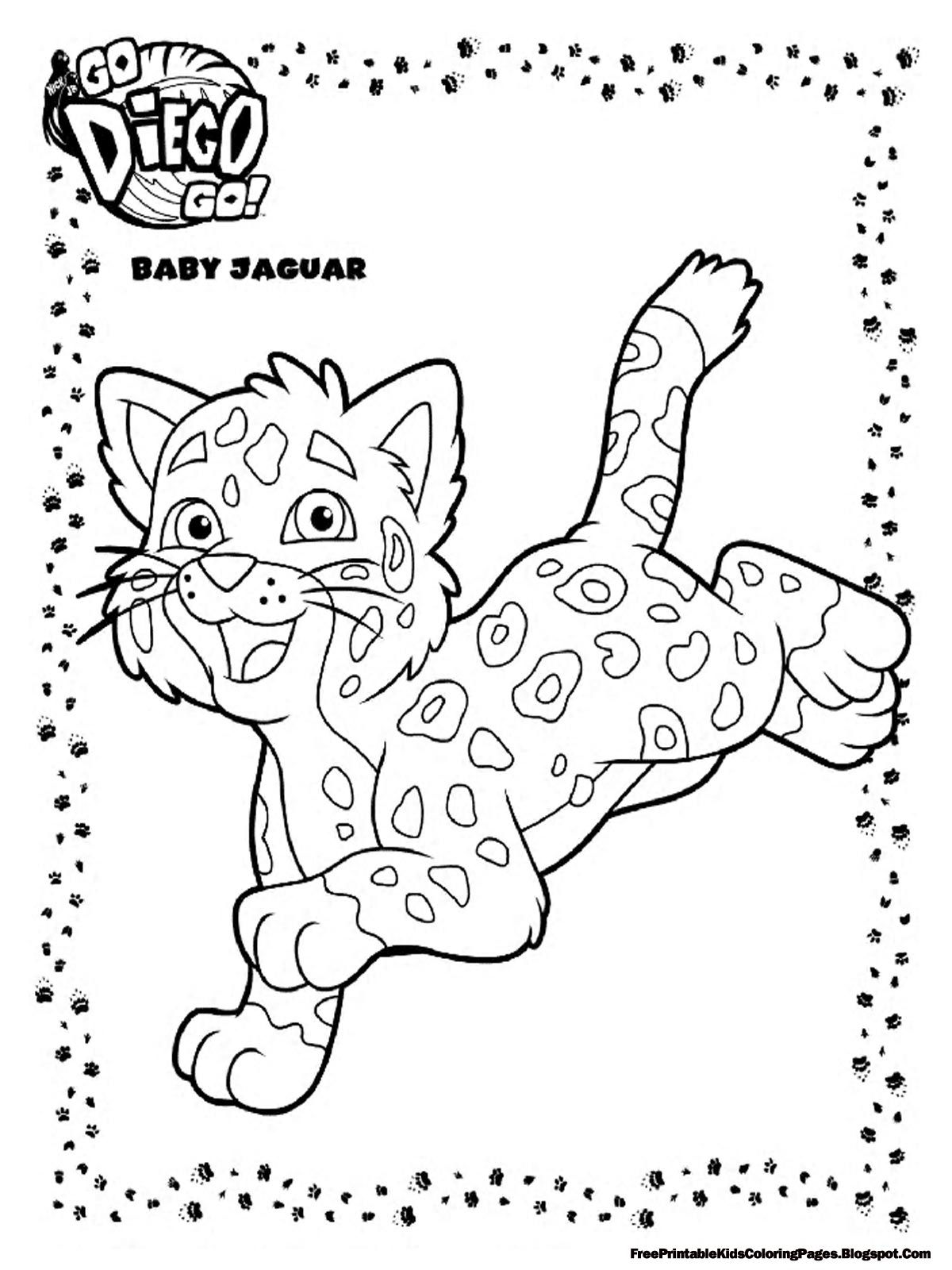coloring pages baby jaguar - photo#3