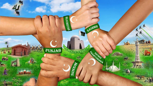 unity between all provinces of pakistan