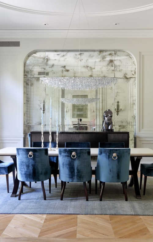 Haus design antiqued mirrors beautiful decorating ideas for Www houzz com dining rooms