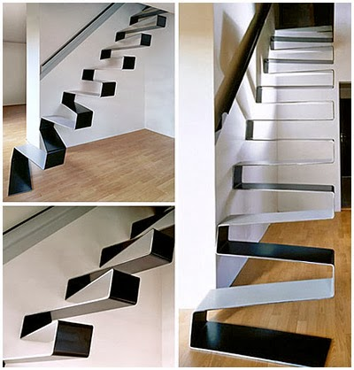 wonderful metal stairs designs painted black and white
