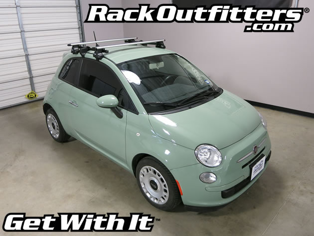 Fiat 500 Thule Rapid Traverse Silver Aeroblade Base Roof Rack 11 15 Rack Outfitters