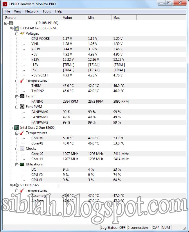 CPUID HWMonitor Pro V 1 23 + Key   Siblah