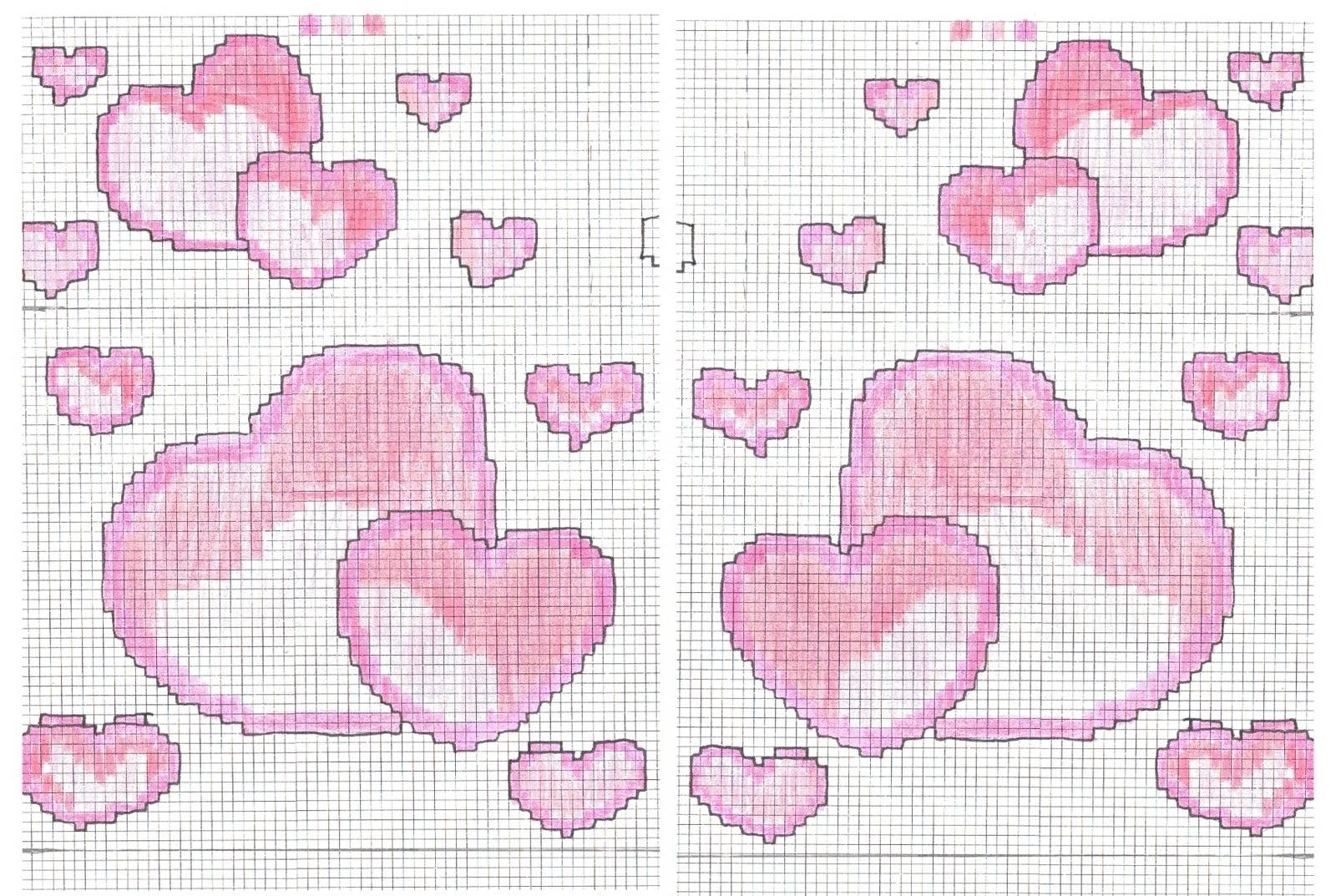 Schemi san valentino spunti e creazioni for Immagini punto croce