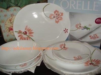 Corelle Pretty Pink Plates Pretty Pink Corelle 16 Pcs