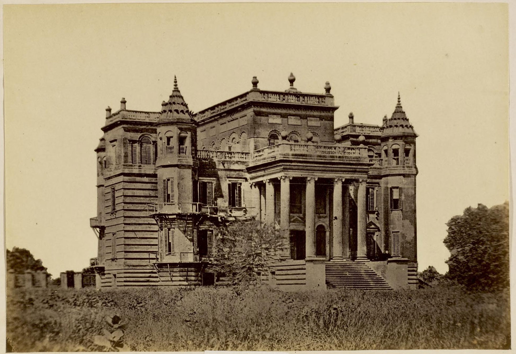 Dilkusha kothi lucknow 1870 39 s old indian photos for Home architecture in lucknow