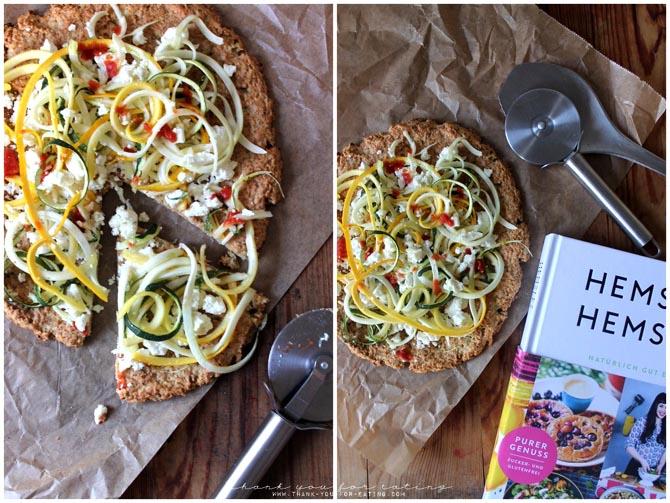 lowcarb Blumenkohlpizza