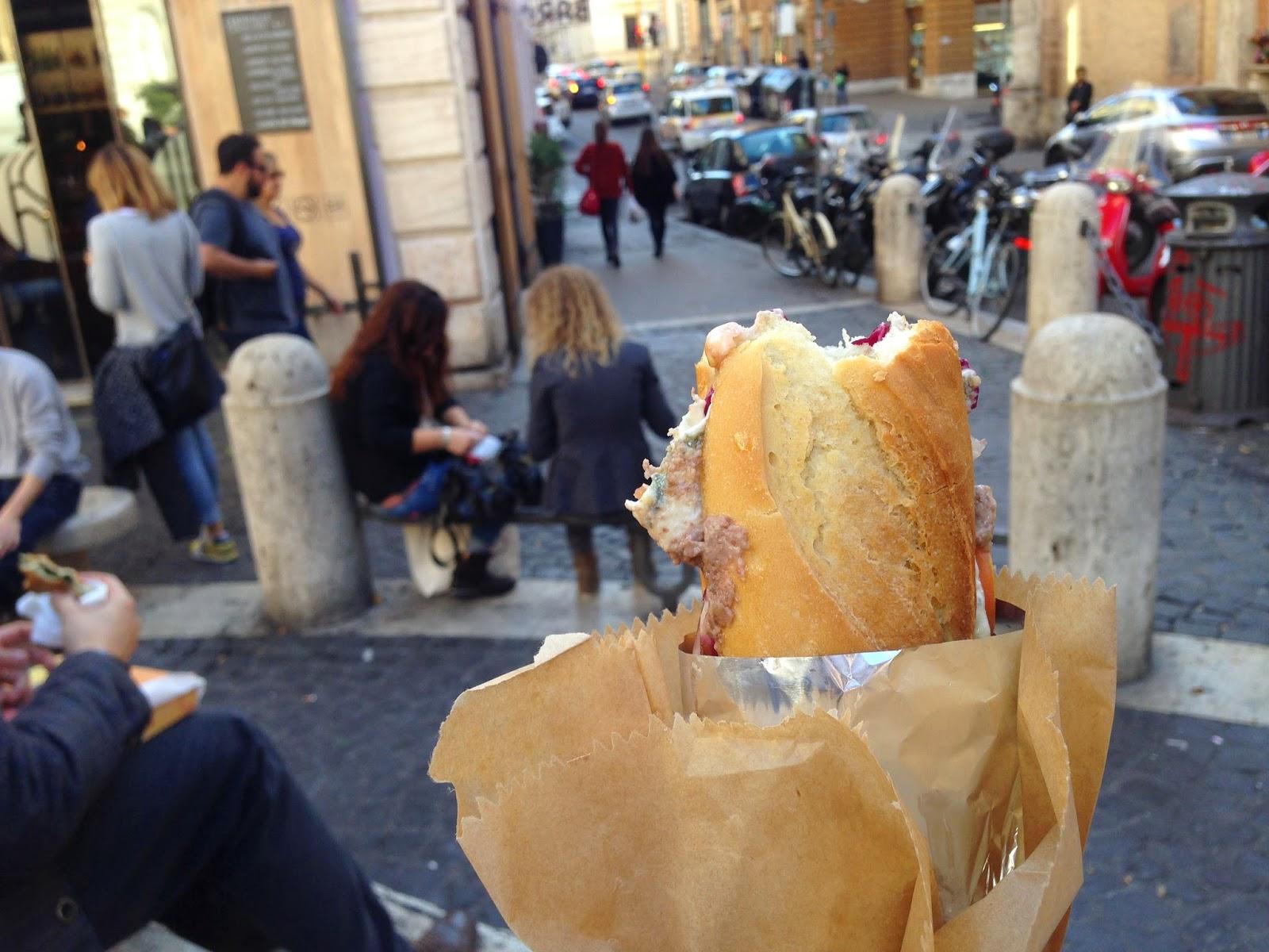 baguette full monti rome italy