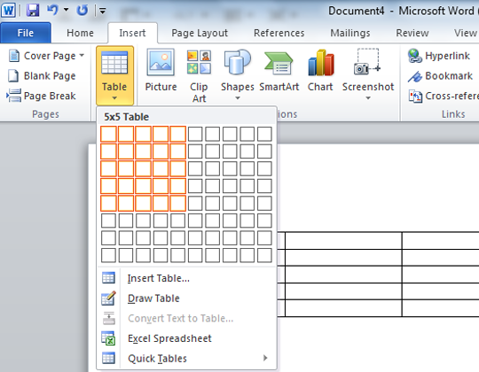 How to easily create tables in blogger using microsoft for Table design word