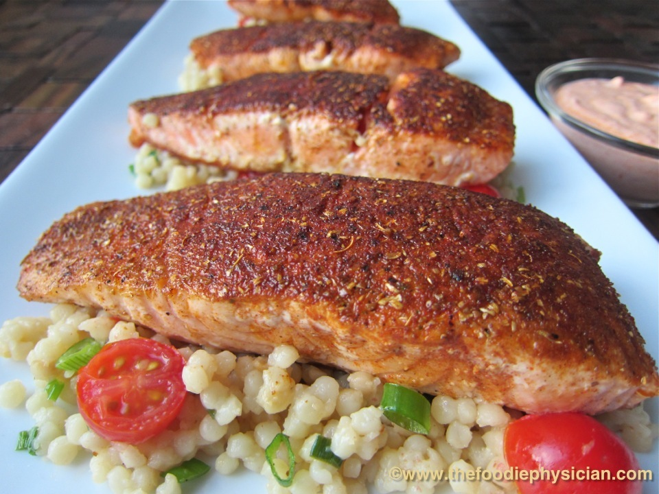 Dining with the Doc: Salmon with the Sisters - The Foodie Physician