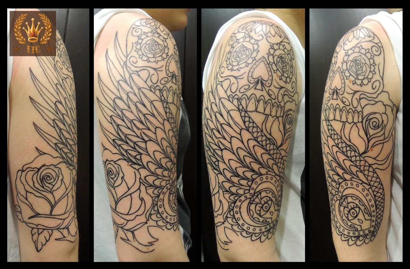 Pin bras tatouage old school on pinterest - Tatouage crane mexicain ...