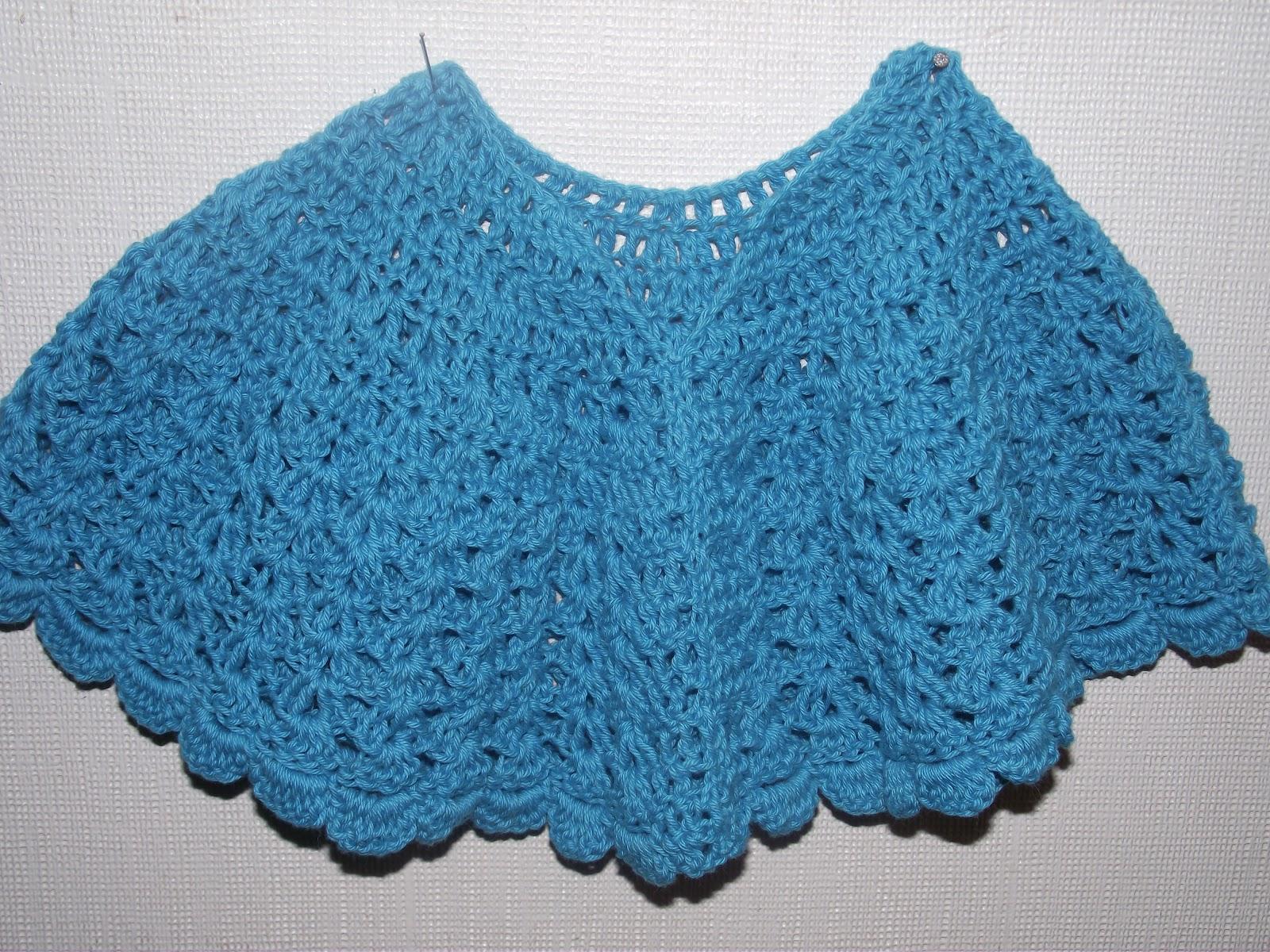 Poncho A Crochet Para Bebe