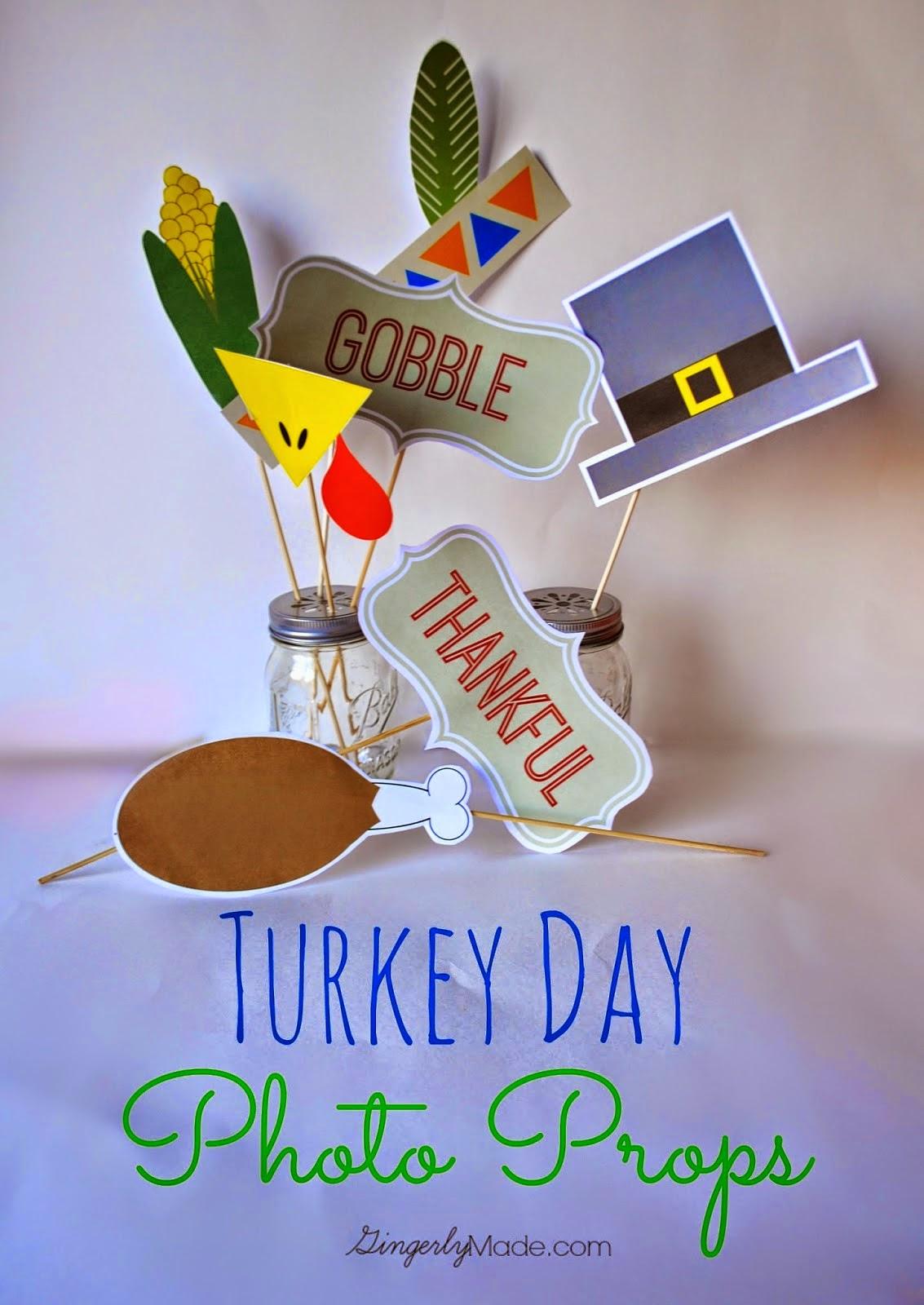 free printable Thanksgiving photo props