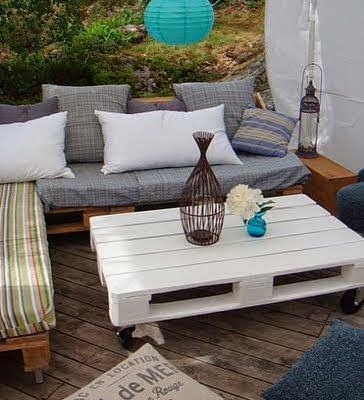 Icono interiorismo decoraci n low cost mobiliario para for Muebles terraza palets