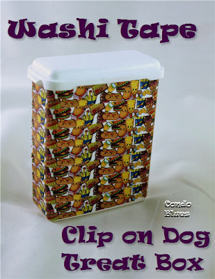 washi tape clip on dog treat box