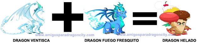 como conseguir el dragon helado en dragon city combinacion 1