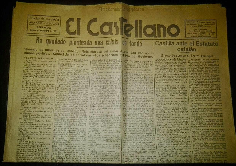 Periódico El Castellano 14-12-1931