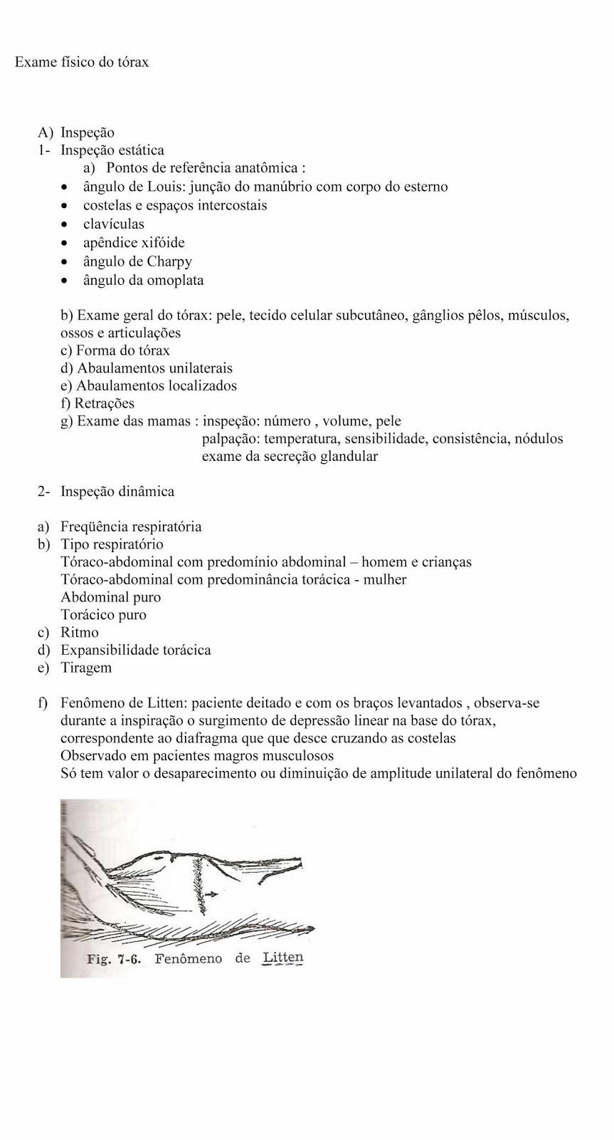 Roteiro exame fisico