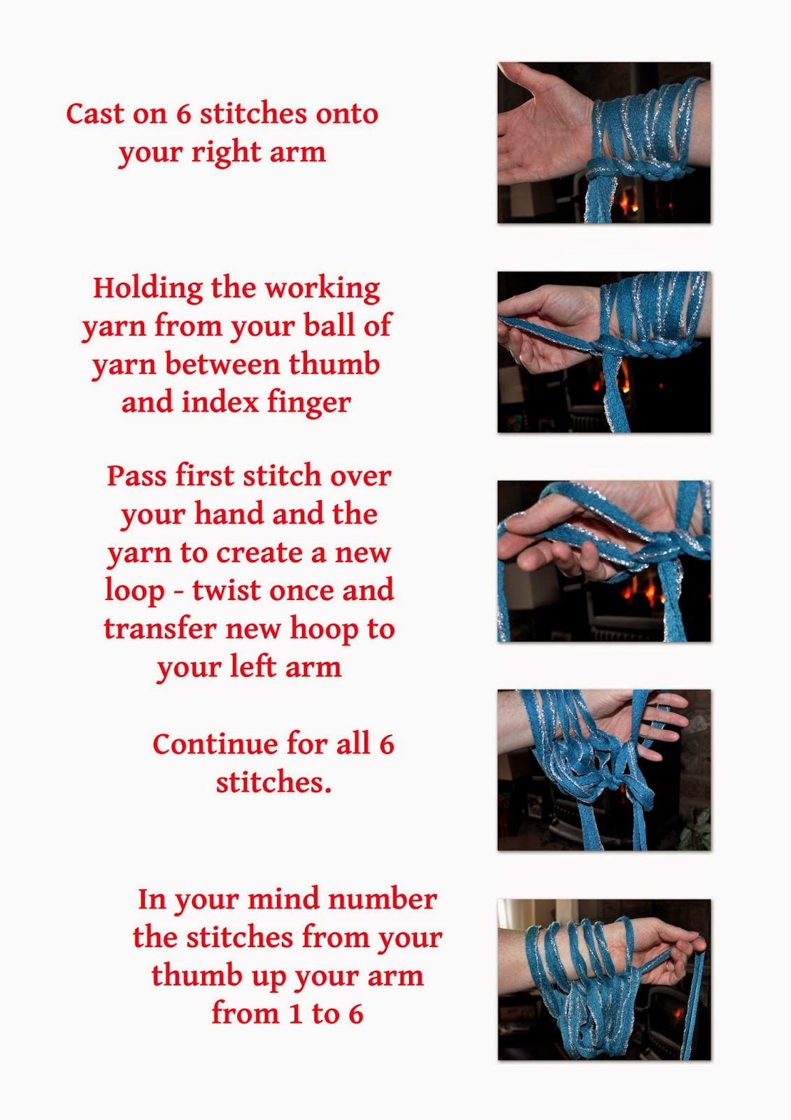 infograph for arm knitting