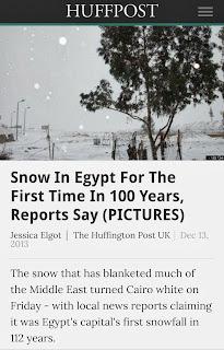 Salji Turun Di Mesir Tanda2 Kiamat ke