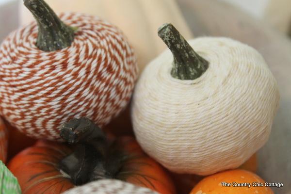 bakers twine pumpkins fall decor